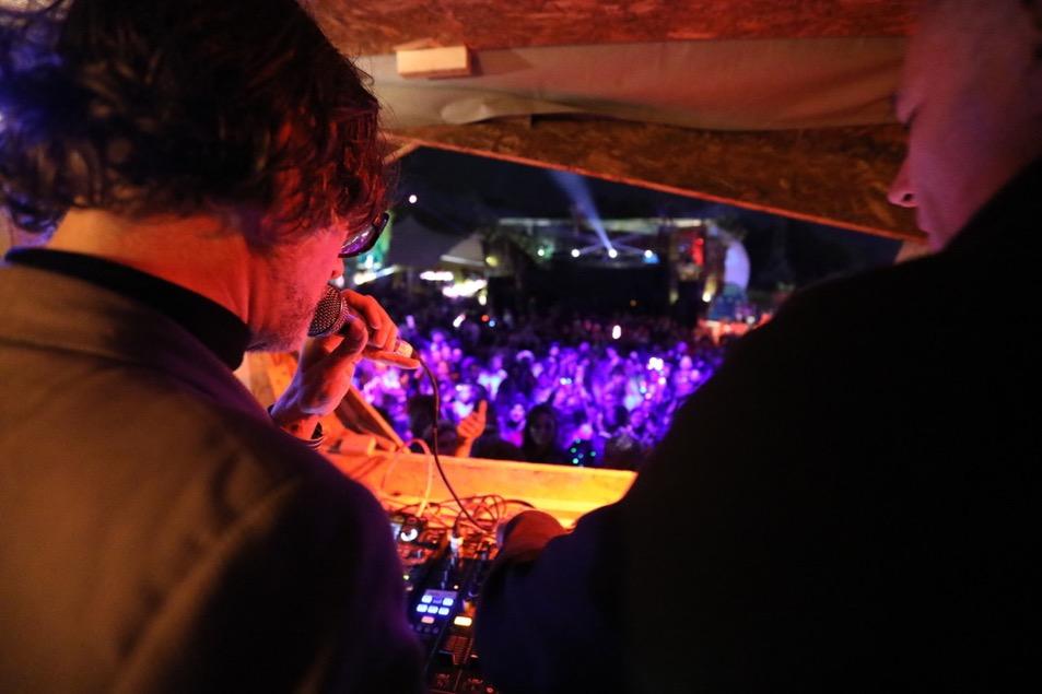 Jarvis Cocker DJing in the Greenpeace Field at Glastonbury 2017