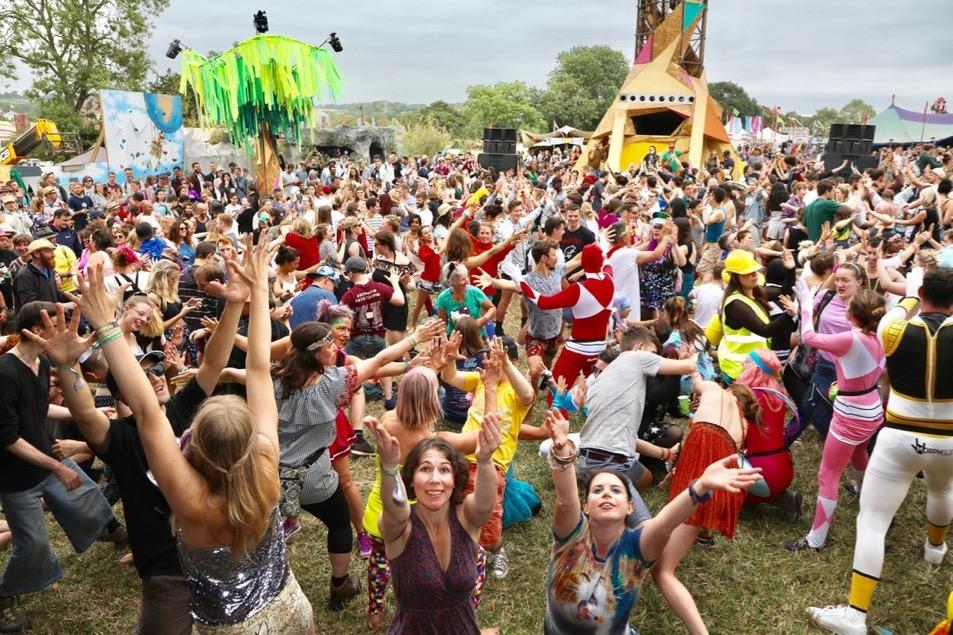 Greenpeace Power Ballad Yoga at Glastonbury 2017
