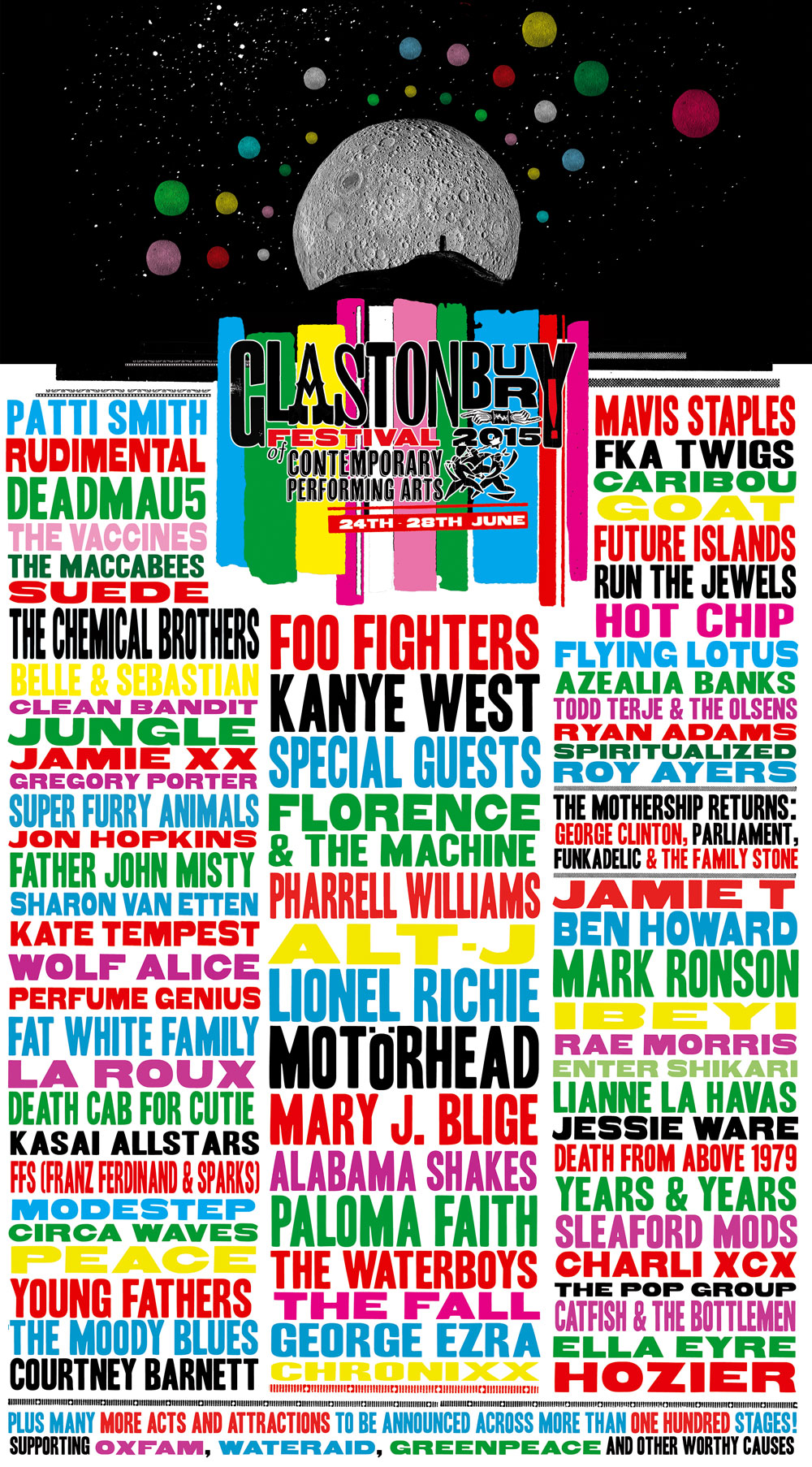 up announcement for Glastonbury Festival 2015  Glastonbury Festival