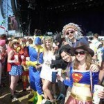 Me and my friends having a brilliant time watching noah and the whale dressed as superheroes :)
