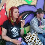 At peace with the world of Glasto......
