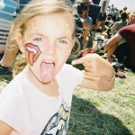My 6 Year old Daughter, having an amazing time awaiting The Almighty Rolling Stones