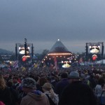 Moments before the Stones came on stage, atmosphere building nicely.