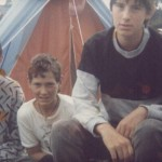 Me aged 15, my brother and mate in 1985.  My 3rd Glastonbury