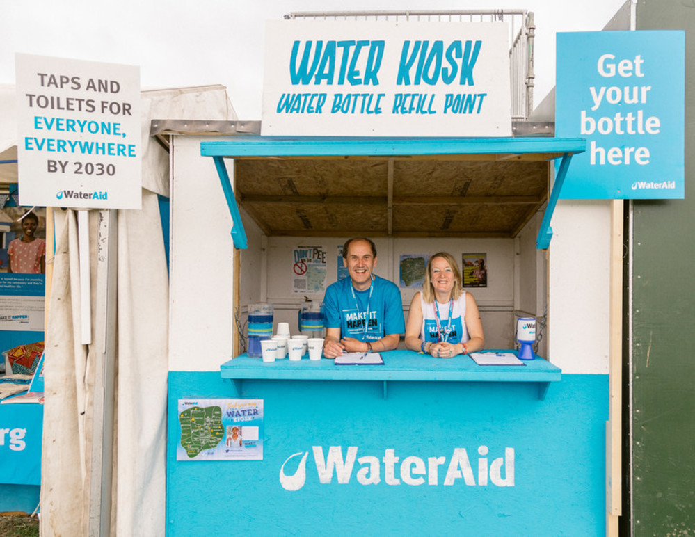 WaterAid page - Glastonbury site