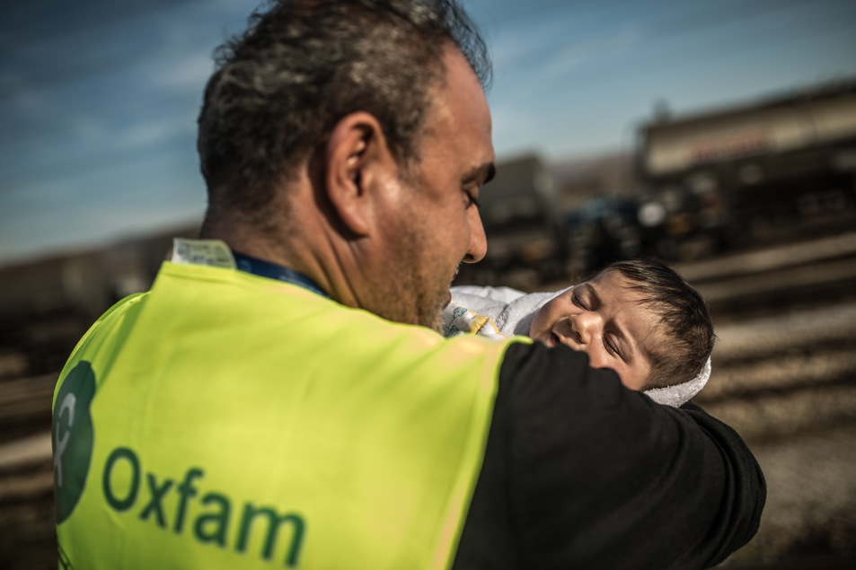 Campo de transito de refugiados de Tavanovce-Macedonia