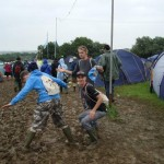 My 2008 Glasto crew get to grips with the mud!