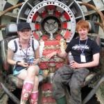 Twins - Sam & Jodie enjoying their first Glasonbury of many!