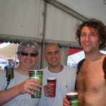 First beer at Glasto, near John Peel stage