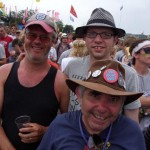 Sunday afternoon by The Pyramid Stage, watching Madness