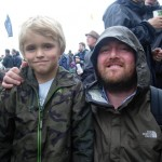 My son Adam with Guy Garvey at the Park stage just after the Golden Silvers, lovely man.