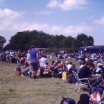 The 6 hour queue for the glasto bus at Bath & West showground in the scorching sun.
