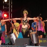 Amazing dancers and steel band drummers