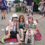 Chilling out to a bit of Madness at the Pyramid stage!