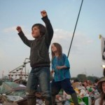 Children at the pyramid Stage