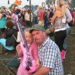 Me and my little angel waiting for the Ting Tings to come on...