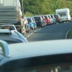 Horrible traffic jam.