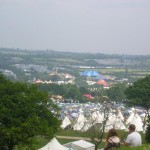 Overlooking the tipis, Bella's field, and the Acoustic stage