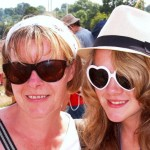Tracy (mum) Rebecca (daughter) girls havin fun!