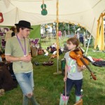Olivia leen age 9 gets a free violin lesson in the kids field ..