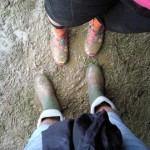 Me & my wife Beth in the famous Glastonbury mud.
