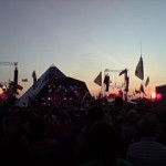 Sunset over Kasabian set. Superb.