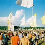 Clear blue sky at glasto!