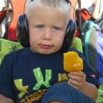 Oscar age 3 loving his 2nd glasto!