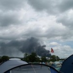 The local car yard fire, taken from Pennard Hill (luckilly wasnt in the festival!!)