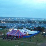 Glastonbury from the scaffolding/ribbon viewpoint