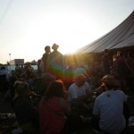 Sunset over the John Peel Stage