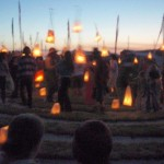 Lanterns at the stone circle.