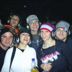 Us at the Silent Disco in the park