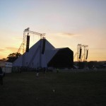Sunset at the Pyramid Stage possibly Friday