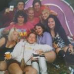 Polaroid of us glasto 2009