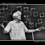 E.P. Thompson Speaking on Pyramid Stage.