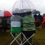 A rare rainy moment during Glasto 2009!
