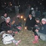Last night round stone circle
