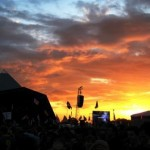 @ The Pyramid stage, waiting for Kasabian as the sun was setting
