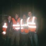 Oxfam stewards at 'A' Gate.