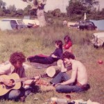 In the days when you could camp at the first tree line a 100 yards from the stage. Me, Pat and other friends