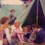 Ahh the days of ridge tents. Pat, myself and friends