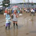 """mandatory """"it's muddy but we're fashionable"""" photo"""