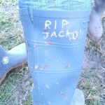 Cutomized our wellies for Jackooo! lol