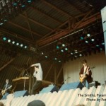 The Smiths perform on the Pyramid Stage (before stage invasion) June 1984