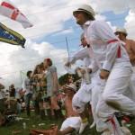Morris Dancers enjoy Dizzee Rascal