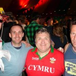 Paul, Ted & Andrew with the Welsh Wizard, Russell Grant in the Acoustic Stage bar.
