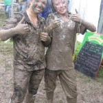 kaylea and cara, after a mud fight :)