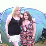 Me and Amy at Glastonbury! Amy's 1st time!