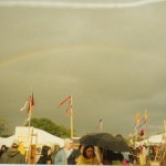 Rainbow! It hardly rained this year and even when it did there was sunshine and rainbows :)